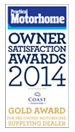 Practical motorhome owner satisfaction awards 2014 Gold Award