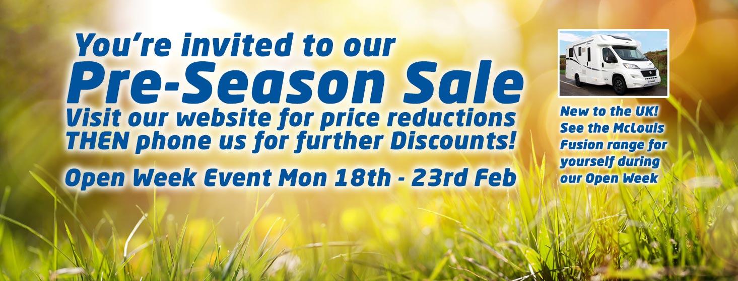 Pre-Season Sale Feb 2109